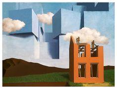René Magritte, L'Univers Démasqué (The Universe Unmasked), 1932, Oil on canvas, 28 3/4 x 36 1/4 inches; 73 x 92 cm