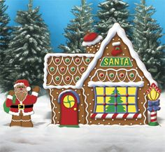 christmas gingerbread house lawn display | charming North Pole home to your Christmas gingerbread yard display ...