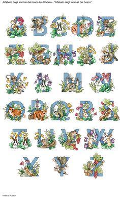 Alfabeto degli animali del bosco