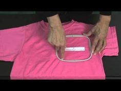Hooping a t-shirt for machine embroidery - YouTube