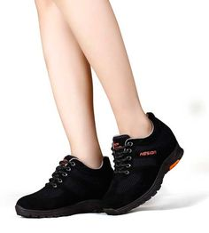 Wearing Casual Women Sport Shoe Lifts For Women 6.5cm Black Microfiber Height Inserts For Shoes is best choice for you