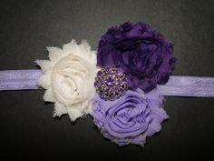 Baby girl. Baby girl photo Shoot. Baby bow. Baby headband. Purple Baby Headbands Newborn Headband Newborn by BabyliciousDivas, $7.25