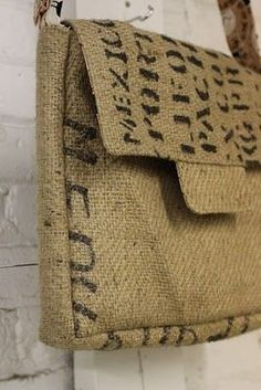 Burlap sack purse! Love the recycled look!