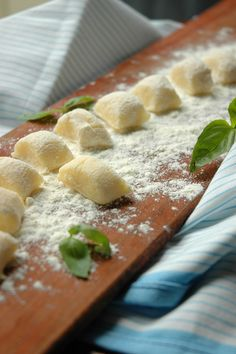 Gnocchi with tomato and basil...I really want to learn how to make gnocchi...the kind that melts in your mouth