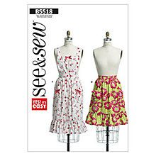Buy Butterick Accessories Aprons Sewing Pattern, 5518, A Online at johnlewis.com