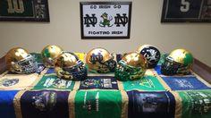 Shamrock Series Helmets Go Irish, Notre Dame Football, Fighting Irish, Helmets, Blue Gold, Cheer, Emerald, University, College