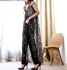 Ideas dress black sheer haute couture for 2019 Dress Brokat Modern, Kebaya Modern Dress, Kebaya Dress, Trendy Dresses, Elegant Dresses, Nice Dresses, Loose Dresses, Formal Outfits, Couture Dresses