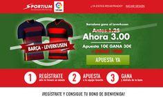 el forero jrvm y todos los bonos de deportes: Sportium Super cuota 3 Barcelona gana Leverkusen c...