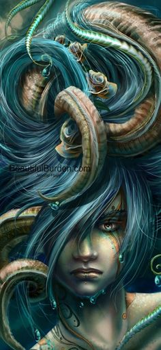Now THAT is what I call a bad hair day.  I suspect poor Medusa didn't have much else.