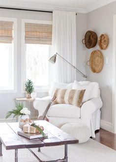 Natural wood tones,