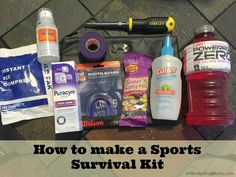 How to make a Sports Survival Kit. This is a MUST if you are a sports mom! Perfect for tournaments and away games. Mom Survival Kit, Survival Supplies, Survival Prepping, Survival Gear, Survival Skills, Survival Hacks, Outdoor Survival, Soccer Skills, Sports Mom