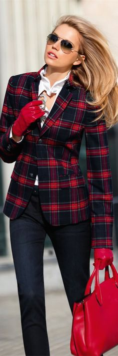 Madeleine Plaid Blazer