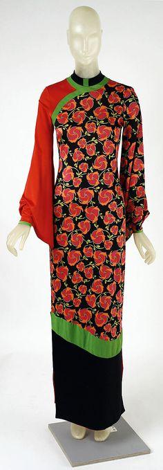Dress Giorgio di Sant'Angelo (American, born Italy, 1933–1989) Date: holiday 1971 Culture: American Medium: synthetic