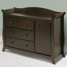 Storkcraft Aspen Sleigh Combo Dresser / Changer in Espresso - Click to enlarge