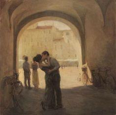 Kai Fine Art is an art website, shows painting and illustration works all over the world. Art Amour, Renaissance Kunst, Kiss Art, Romantic Paintings, Classical Art, Old Art, Aesthetic Art, Oeuvre D'art, Art Inspo