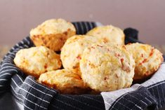 Pimento Cheese Muffins: I would substitute pimentos for the peppers.