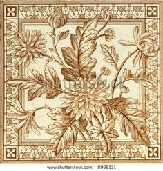 Image Detail for - stock photo : Victorian period decorative arts printed panel tile with ...