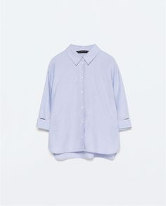 Image 9 of THREE-QUARTER SLEEVE OXFORD SHIRT from Zara