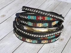 Boho Sublime Leather-based Wrap Bracelet Arrow Bracelet Local