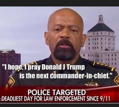 I love this man. He has common sense and tells it like it is. Thank you. Twitter..... @SheriffClarke praises #Trump2016 for unwavering support of POLICE #Dallas #TCOT https://youtu.be/H7NJaV0-Nho