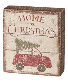 'Home for Christmas' Block Sign