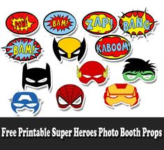 Free Printable Super Heroes Photo Booth Props