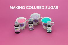 How to make Easy Coloured Sugar with Magic Colours