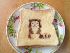 Cute Toast Art (and I totally have that same plate!)