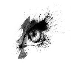 Fashion illustration by Lotta Larsdotter: Black eye