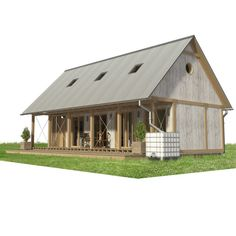 Are A-frame Cabin Kits Worth it? Cabin Plans With Loft, Cabin Floor Plans, Wood Frame House, A Frame Cabin, Porch House Plans, Tiny House Community, Building Costs, Kabine, Wood Plans