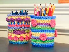 Mason jar cozy crochet pattern