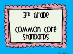 This is a set of posters for third grade common core standards in reading, ela, and math....