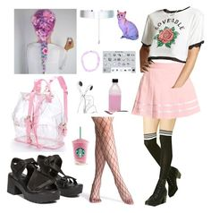 """""""Pastel Goth #41"""" by godfidence ❤ liked on Polyvore featuring Forever 21 and Accessorize"""