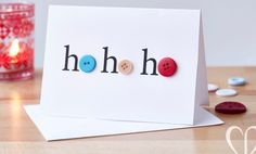 Christmas buttons cards