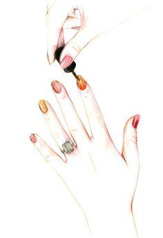 Do you like my tight sweater ? - Caroline Andrieu: Nails !