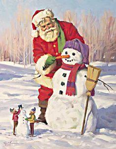 Tom Browning Portfolios Christmas Puppy, Christmas Gift Box, Christmas Scenes, Father Christmas, Vintage Christmas Cards, Santa Christmas, A Christmas Story, Christmas Pictures, Christmas Ideas