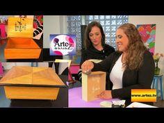 Cómo reciclar cajas o muebles con imitación de marquetería - YouTube