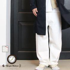 画像1: 赤耳(セルヴィッチ)ホワイトデニムワイドペインターインステップカットパンツ【MADE IN JAPAN】『日本製』【送料無料】/ Upscape…