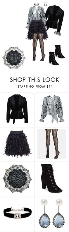 """""""Rococo Modern Day Vintage"""" by jocelinaaaaa on Polyvore featuring VILA, Alice + Olivia, Avenue, Cultural Intrigue, BCBGeneration, Kenneth Jay Lane, Larkspur & Hawk, Boohoo, modern and vintage"""