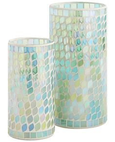 Infused with a coastal blend of jasmine, gardenia, melon and white lilac fragrances, these flamelessSea Air Blue Mosaic LEDs are a modern update to classic mosaic artistry and worry-free candlelig...