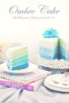 ombre cake, via Flickr.