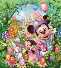 Tokyo Disneyland's Easter celebration with Easter garden tami@goseemickey.com