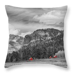 Colorado Western Landscape Red Barns Throw Pillow by James BO  Insogna #insognaGallery #gifts #pillows