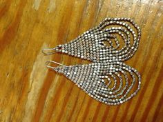 silver bead earrings!