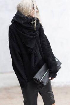 Winter in black