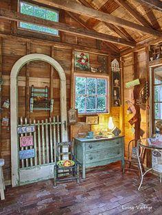 Jenny's adorably decorated garden shed   Living Vintage