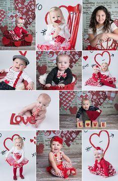 Valentine's Day Photo Mini Sessions. Swade Studios, Kansas City Baby Photographer. Valentine's Day Photography Props backdrops