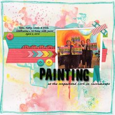 Monday's Highlight: Painting by Linda  November Challenge Templates by Scrapping with Liz (no longer available) Storyteller Asher by Just Jamie