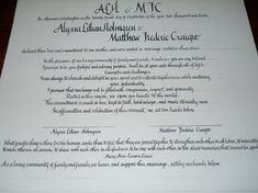 Quaker Wedding Certificate by lrcalligraphy on Etsy