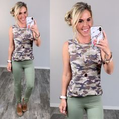 Affordable Stylish Camo Clothes styled so many ways! #streetstyle #affordablefashion #casualstyle #ootdfashion #style #ootd #summerfashion #flannel #blogger #travel #vacationstyle #fashionlover #fashionblogger #summerstyle #boutiquefashion #womensfashionoutfit #summeroutfit #dress #layeringdress #casualstyle #casualfashion #joggers #comfyoutfit #kimono #swimwear #homefashion #summervibes #womensfashion #onlineshopping #onlineboutique #momstyle #kimono Ootd Fashion, Fashion Boutique, Fashion Outfits, Camo Outfits, Vacation Style, Camo Print, Mom Style, Affordable Fashion, Summer Outfits